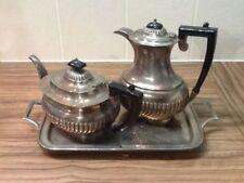 Queen Anne Tea/Coffee Pots/Set Antique Silver Plate