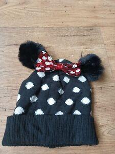 Girls Minnie Mouse Winter Hat M/l