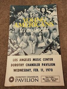 1970 The Young Americans Music Concert Poster Dorothy Chandler Pavilion