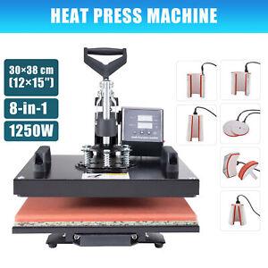 CRENEX 8in1 Heat Press Machine Digital Transfer Sublimation 30×38cm  Printer
