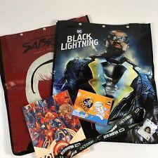 SDCC Black Lightning Swag Bag Lot Pins Mondo Souvenir book 2018