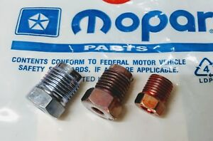 NOS Mopar Master Cylinder Fitting Kit Plymouth Dodge Chrysler Charger Dart Cuda