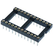 "5 x 24 Pin DIP/DIL Turned Pin IC Socket Connector 0.6"" Pitch"
