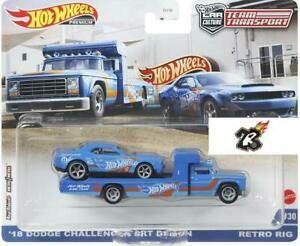 2021 Hot Wheels Car Culture Team Transport 18 Dodge Challenger SRT Demon & Retro