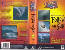 SURFING FOLLOW THE SUN VHS VIDEO PAL~ A RARE FIND MINT SEALED