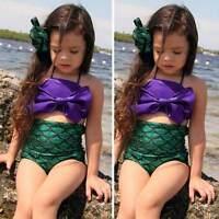 Filles Enfant Sirène Baignable Maillot De Bain Bikini Natation Ensemble Costume
