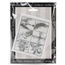 Wing Pieces Silicone Mounted Rubber Stamp LaBlanche NEW angel gargoyle cupid art