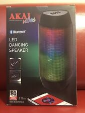 BN AKAI Vibes A58036 Bluetooth LED Dancing Speaker Stereo Surround Sound Black