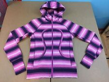 LULULEMON  SCUBA Hoodie Jacket 4 6 8 Purple striped stripe violet womens