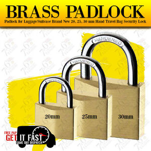 PADLOCK FOR LUGGAGE/SUITCASE BRAND NEW 20,25,30MM HAND TRAVEL BAG SECURITY LOCK