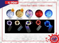 1-3 METER FAIRY LIGHTS Battery Powered silver Wire String Xmas Party Lights RGB