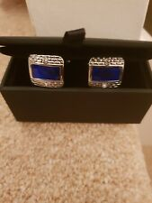 French Style square pattern cufflinks
