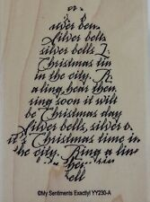 NEW MSE! My Sentiments Exactly! Mounted Wood Rubber Stamp YY230 Christmas bell