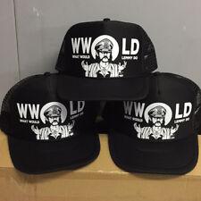 What would Lemmy Do? Black Trucker Hat Seven13 Productions Motorhead WWLD 13
