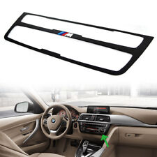FOR BMW F30 F34 F31 F36 Black Interior Decal CD AC Console Control Panel Trim