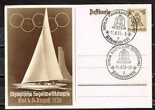 Germany Olympic Games Postcard 1936 rare openning Postmarks CV$40