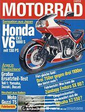 16/83 MOTO 1983 MOTO GUZZI t5 HONDA CBX PRO LINK VF 750 f Harley xr1000 MOTO