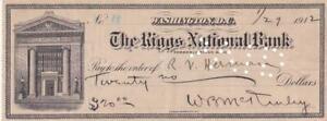 Senator William B. McKinley- Signed Vintage Bank Check