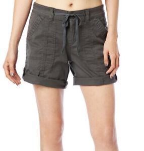 New Women's UnionBay Supplies Dark Gray convertible Inseam Cargo shorts Sz 8