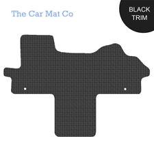 Fiat Ducato Walkthrough 2007-Present Fully Tailored Black Rubber Van Mats