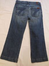 Seven 7 For All Mankind Cropped Capri Jeans  30  W 30 I24 R7.5 C9 USA