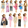 5 Pair Shoes + 5 Suits Lot Kid Fashion Outfit Dress Clothes For Barbie Doll j