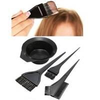 Hair Coloring Brush & Bowl 4 Pcs Set Tint Tool Bleach Dye Color Dying Brushes !