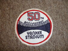 Original 1973 50th Anniversary Yankee Stadium Jersey Patch - RARE