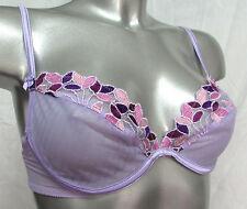 SOUTIEN-GORGE PUSH-UP 85C 85 C 32C tulle mauve violet brodé WONDERBRA femme NEUF