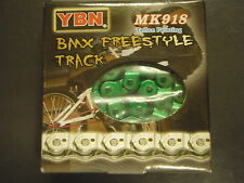 """GREEN YBN 1/2 Link BMX Chain 1/2"""" x 1/8"""" with 102 links  """"Strong BMX Chain"""""""