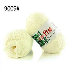 60 Colors Soft Bamboo Crochet Cotton 50g Knitting Yarn Baby Knit Wool Yarn a09