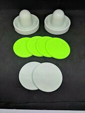 Air Hockey Mallets / pushers (Dynamo) with 6 Large Pucks standard / quiet