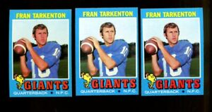 1971 TOPPS #120 FRAN TARKENTON LOT OF 3 NM F259129