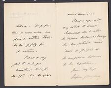 """Robert Napier, British Field Marshall, ALS signed """"Napier of Magdala"""""""