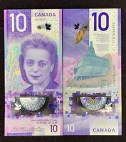 CANADA 10 DOLLARS 2018 POLYMER P NEW DESIGN VIOLA DESMOND COMM. UNC