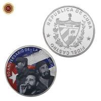 WR Fidel Castro Moneda conmemorativa de plata 999 Medalla de metal