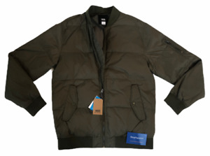 VANS (STRAHORN) QUILTED BOMBER JACKET COAT GREEN MENS SIZE SMALL S DUPONT NWT