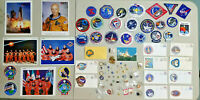 Huge Lot of NASA Patches Photos Pins FDC's Mercury Gemini Apollo Space Shuttle