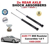 2x REAR SHOCK ABSORBERS SET for AUDI TT 8N9 Roadster Convertible 1.8 T 1999-2006