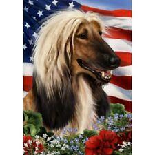 Patriotic (1) House Flag - Afghan Hound 16087