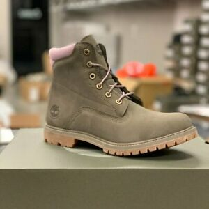 Timberland Women's Waterville 6 Inch Waterproof Olive Nubuck Boots A2GN2