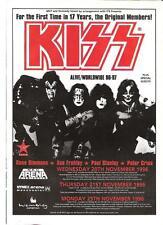 "KISS Alive 1996-97 Tour (red) UK magazine ADVERT / mini Poster 11x8"""