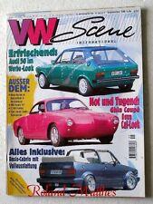 VW SCENE 9-97+AUDI 50+VW KARMANN GHIA TYP 14+CORRADO G60+POLO+JETTA+GOLF CABRIO