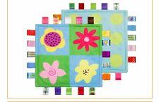 Taggies Style Lovey Baby Blanket, FLOWERS Security Blanket, NEW
