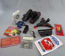 Vtg Captain Power Lot Action Figure Vehicle Toys Interlocker Thrones Energizer