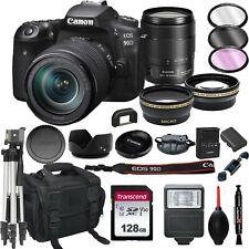 Canon 90D Digital Slr Camera with 18-135 is Usm Lens +128Gb(22pc Bundle)
