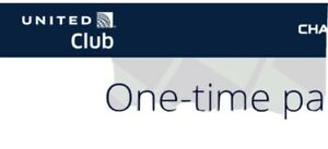 2 United Airlines Club Chase One-Time Passes - E-Delivery -  Exp 08/01/2021