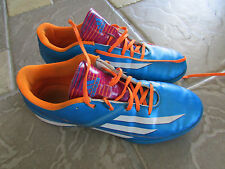 ADIDAS F10 INDOOR SOCCER SHOES MENS 8.5 BLUE ORANGE  FREE SHIP