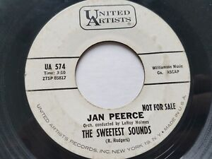 """JAN PEERCE - Maria / The Sweetest Sounds 1963 PROMO Contemporary Classical 7"""""""