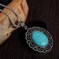 Retro Women Alloy Choker Bib Statement Pendant Chain Collar Necklace Jewelry